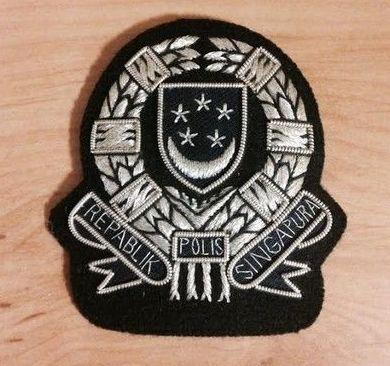 ESCUDO BORDADO POLICIA DE SINGAPUR