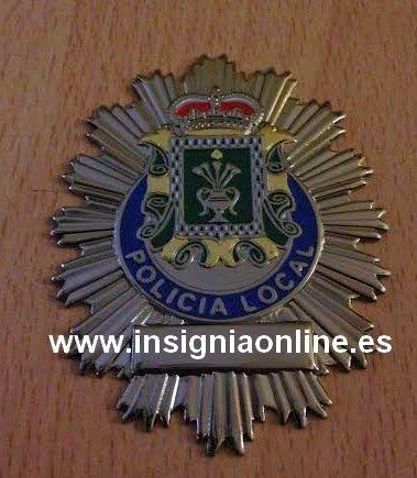 PLACA INSIGNIA DE POLICIA LOCAL