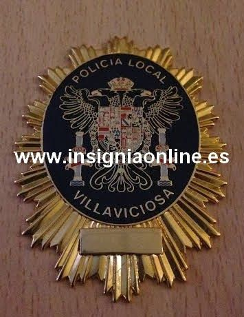 PLACA INSIGNIA POLICIA LOCAL VILLAVICIOSA