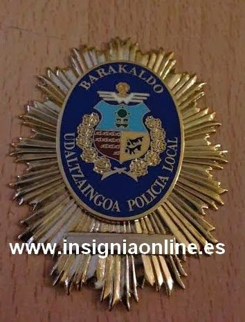 PLACA INSIGNIA POLICIA LOCAL BARAKALDO