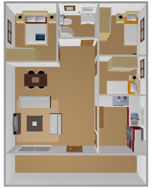 plano 70 m2