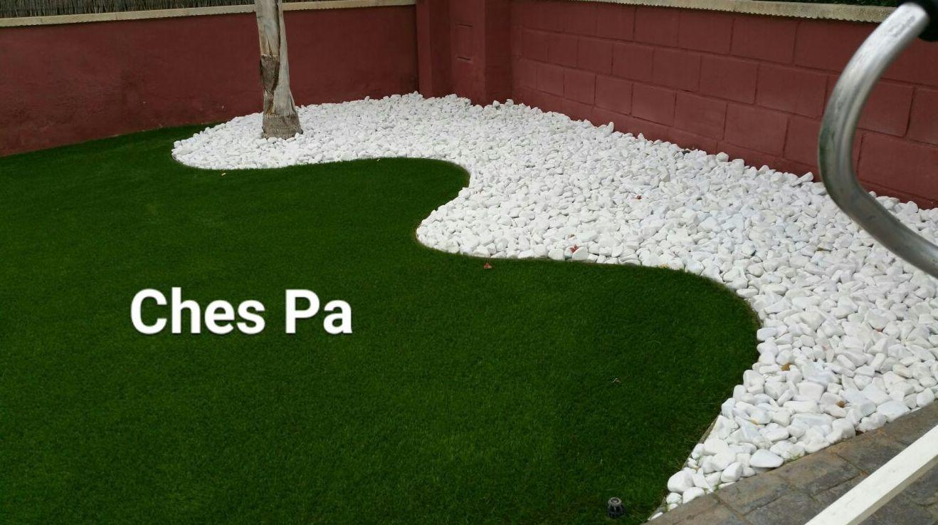 Foto 34 de dise o y mantenimiento de jardines en b tera - Cesped artificial en valencia ...