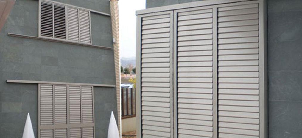Mallorquina de aluminio lama fija productos y servicios for Puertas venecianas