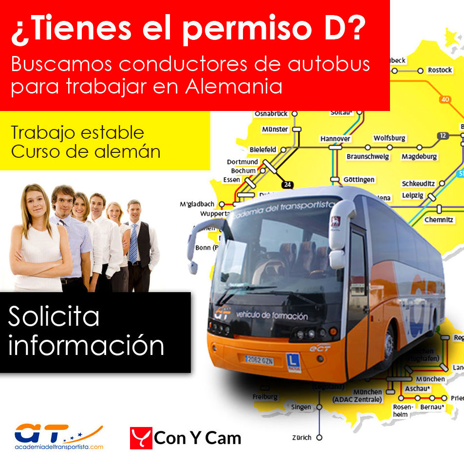 oferta de trabajo cómo conductor de autobús en Alemania