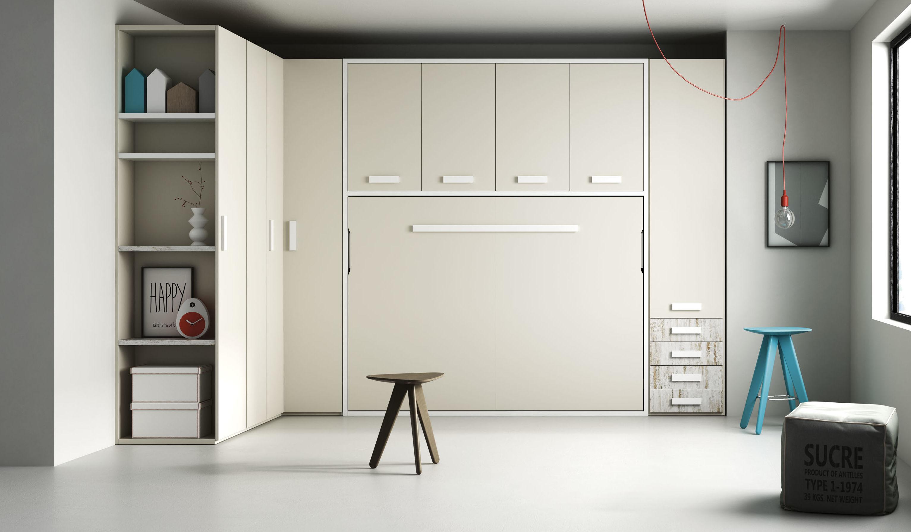 Litera vertical abatible muebles de muebles aguado - Muebles literas abatibles ...