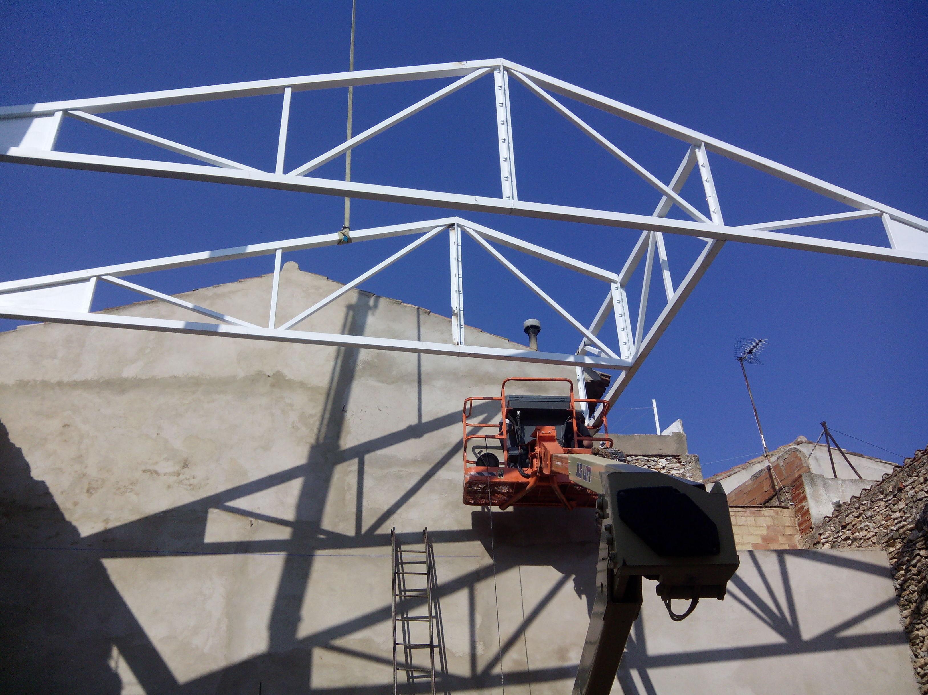 C lculo fabricaci n y montaje de estructura met lica para - Cerchas metalicas para cubiertas ...