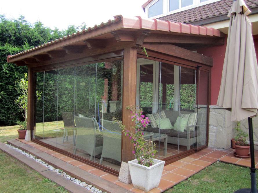 Porches de madera porches de madera rsticos y vintage - Porches de madera cerrados ...
