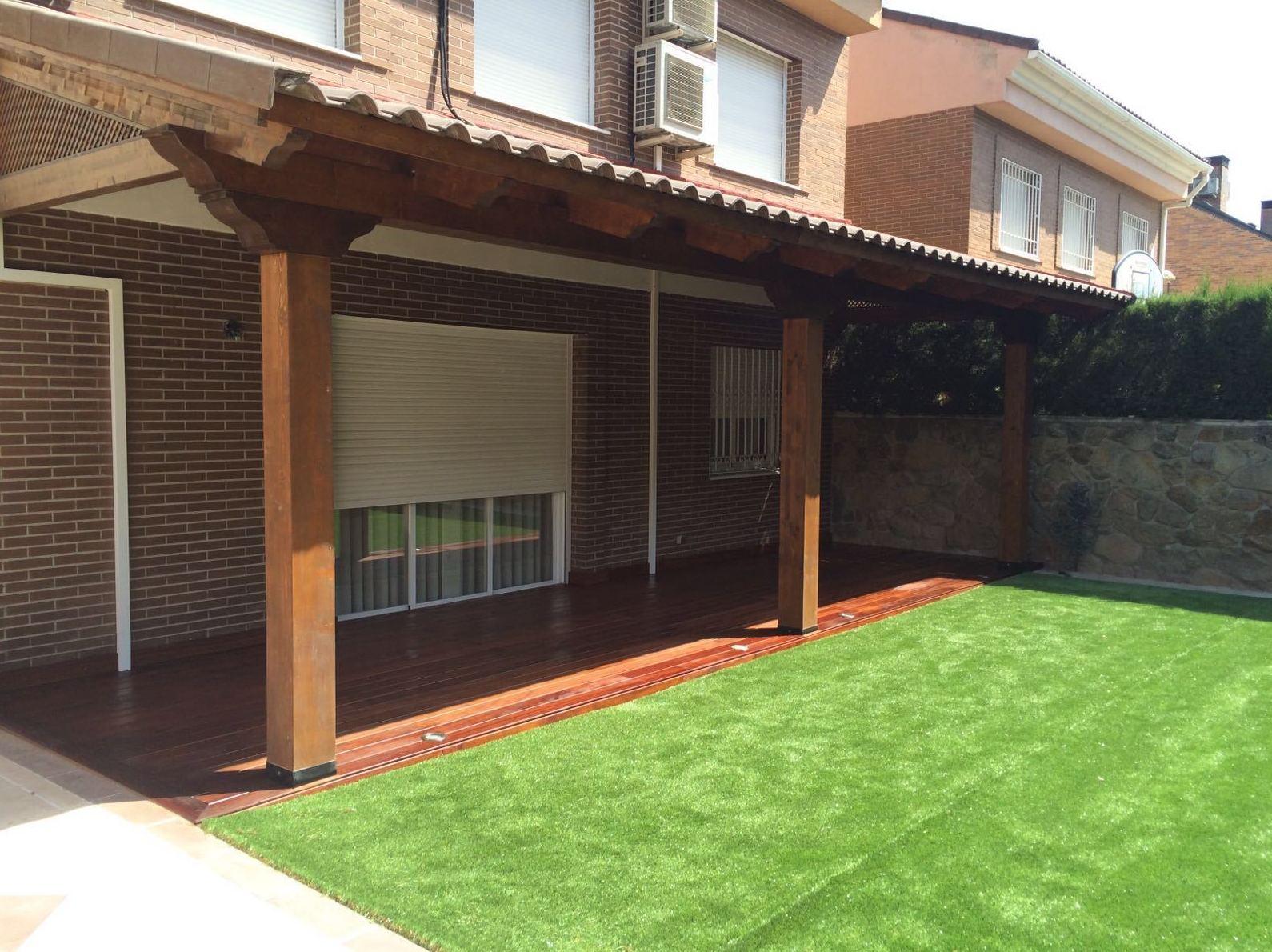Estructuras de madera para terrazas porche las coberturas mas livianas y funcionales para - Estructuras de madera para terrazas ...