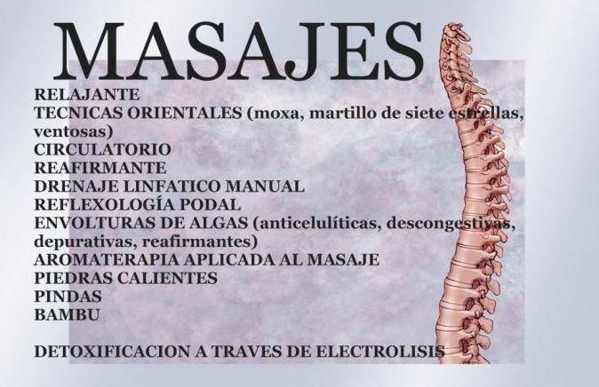 Distintas tecnicas de masaje
