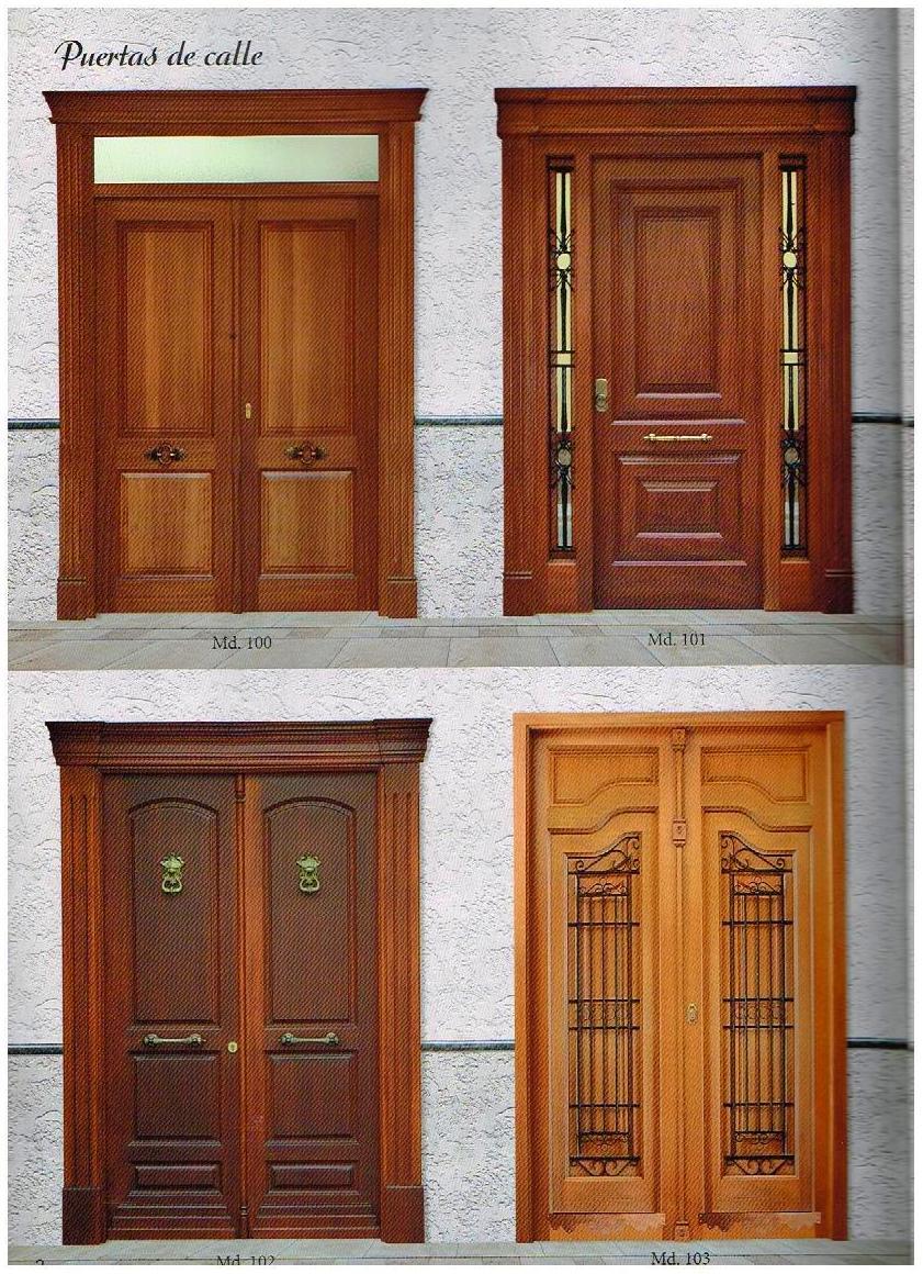 Puertas exteriores madera en cuenca for Puertas de exterior