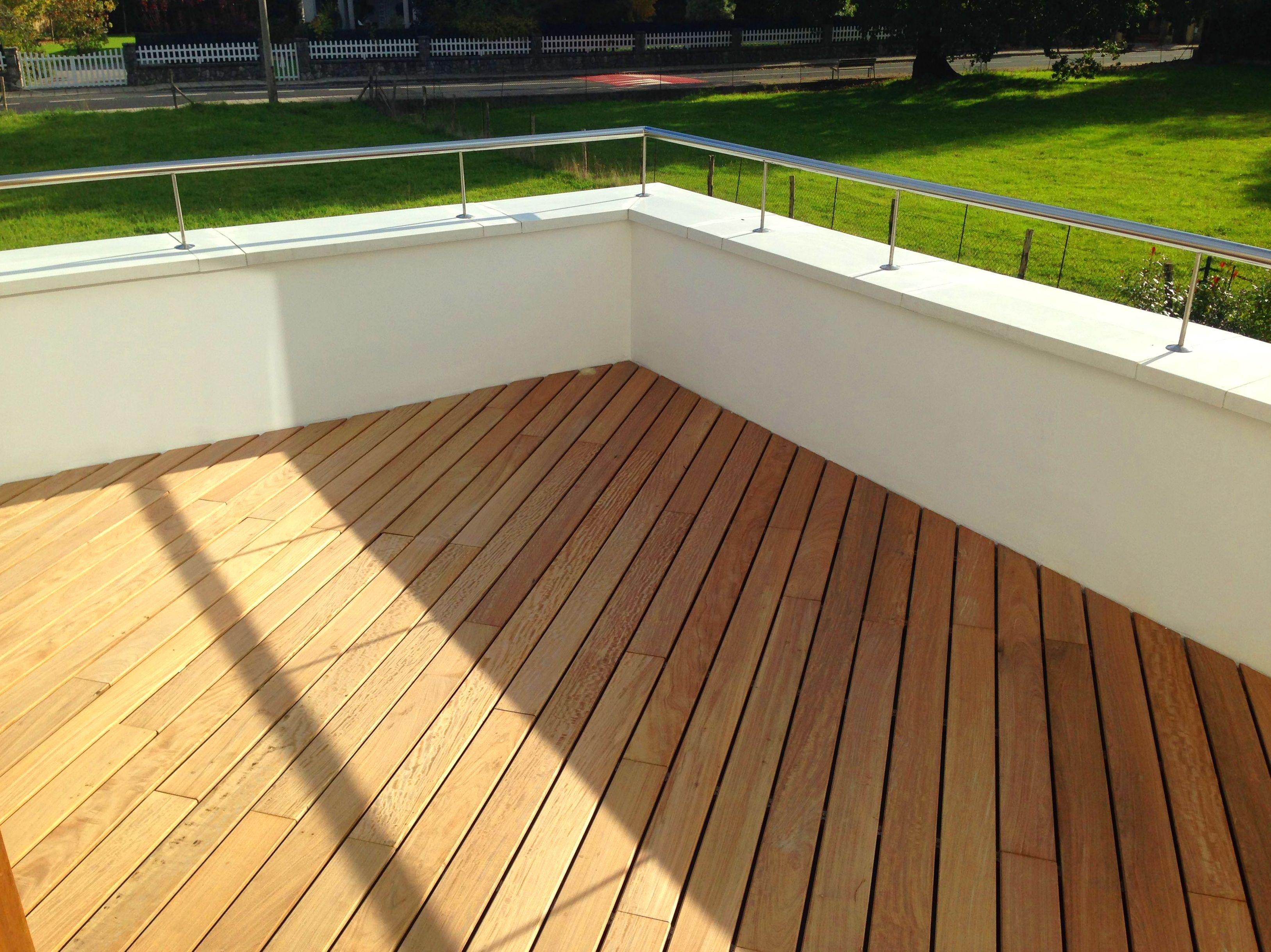 Reforma de terraza con acabado de tarima de madera ipe - Tarima para terraza ...