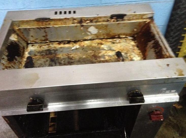 Limpiezas Maquinaria de Hostelería en Gipuzkoa   ANTES