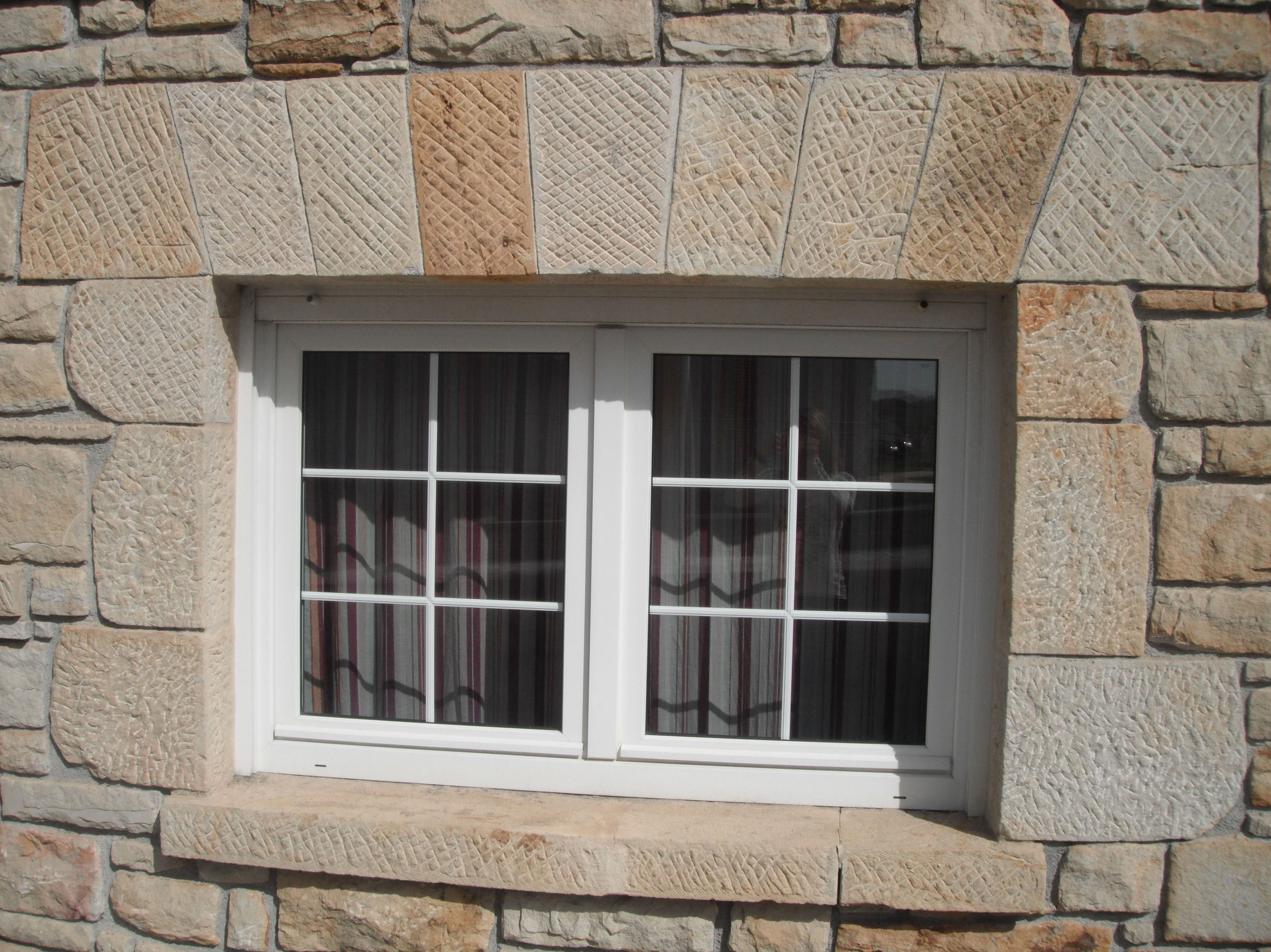 piedra natural detalle arco de entrada detalles ventana