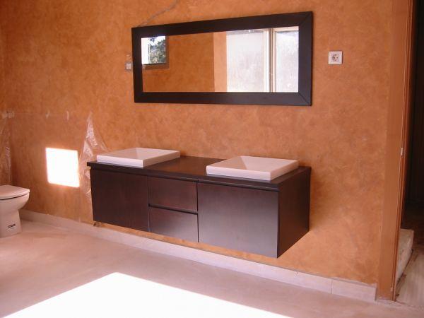 Medidas Baño De Servicio:Mueble de baño de madera a medida