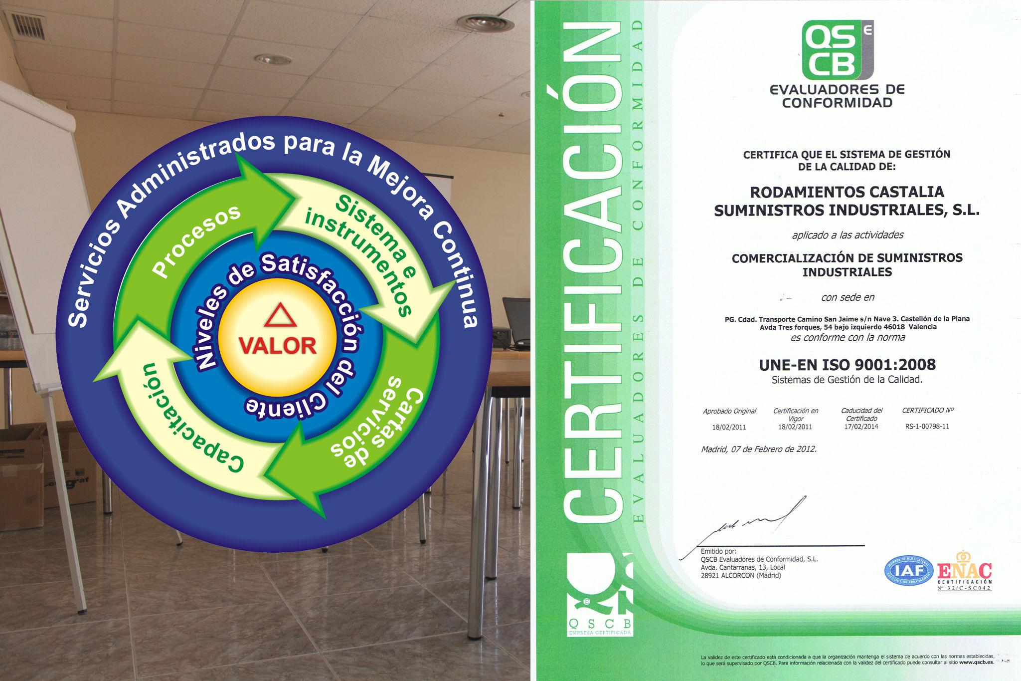 UNE\u002DEN ISO 9001:2008