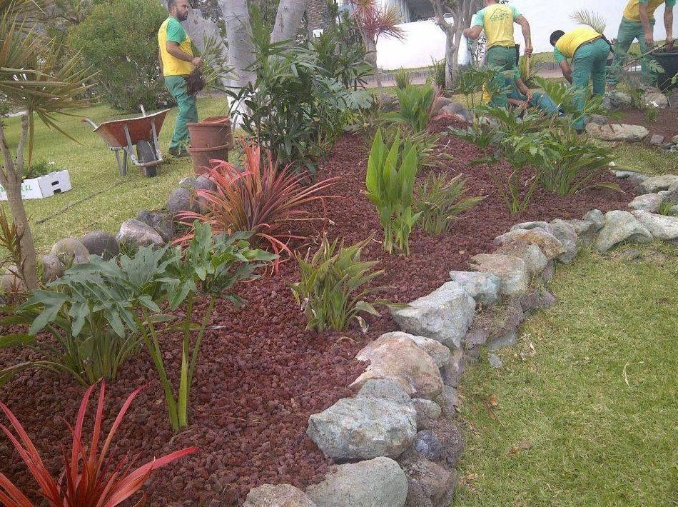Dise o de jardines en tenerife jardiner a tudor for Diseno de jardines rectangulares