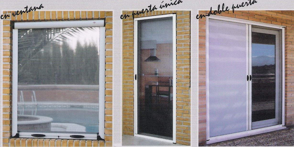 Mosquiteras enrollables productos y servicios de ventanas for Recambios mosquiteras