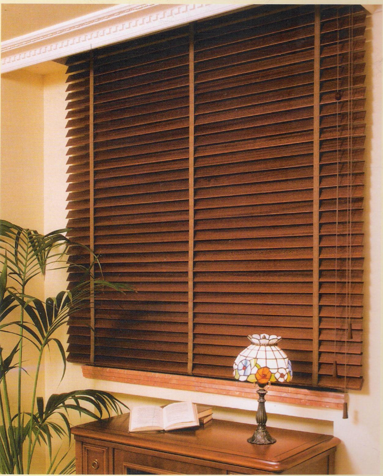 Venecianas de madera productos y servicios de ventanas y for Venecianas de madera