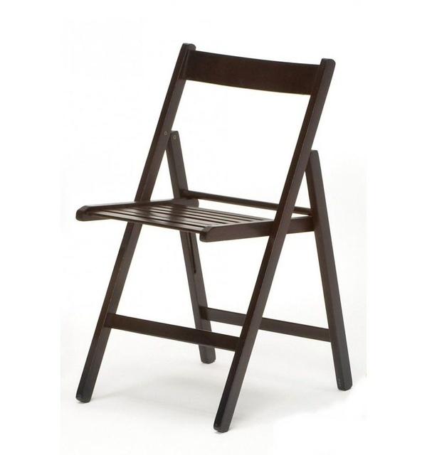 silla plegable en madera wengué