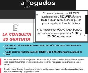 Recuperación de gastos de formalización de hipotecas: Bufete de Nieves Menchero Abogados