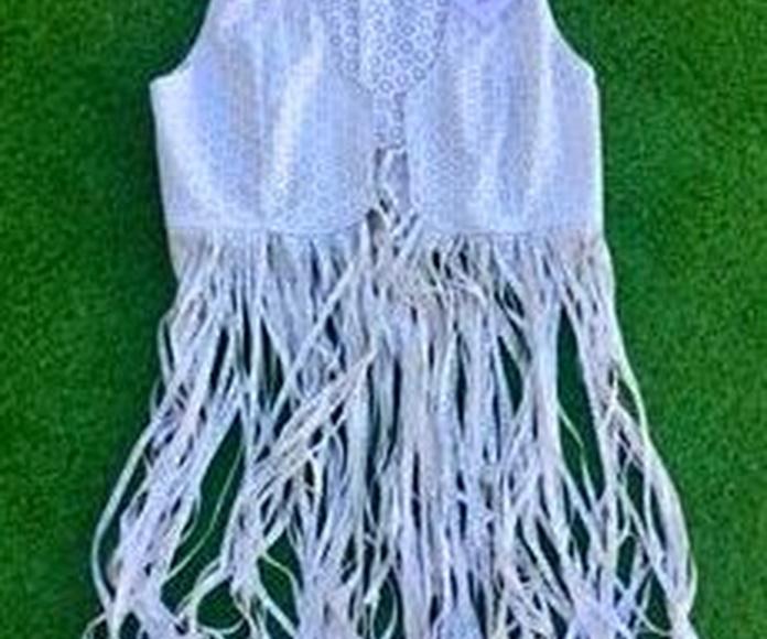 Ref: 3-02 Chaleco de flecos Blanco 56,50.-€