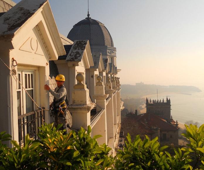 Trabajos verticales y en altura Fachadas Cantabria