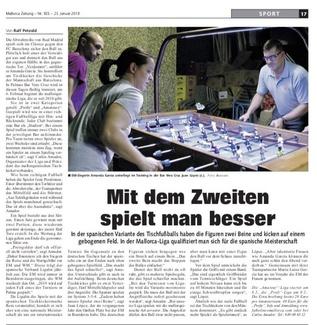 Reportaje en Mallorca Zeitung