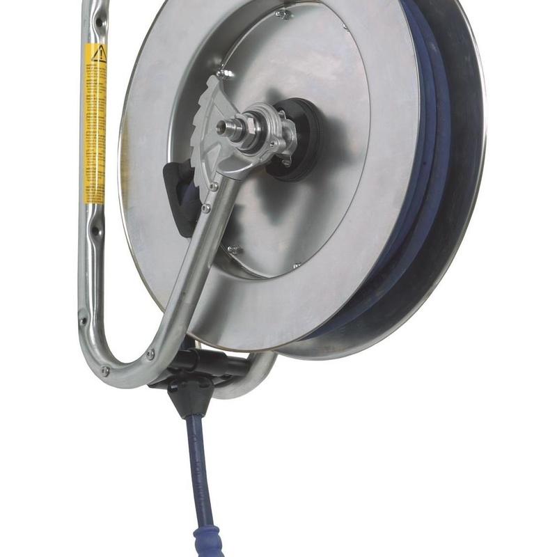 Enrollador de manguera 893 en acero inoxidable: Productos de E.T.I.S.A. Exclusivas Técnicas Industriales, S.A.