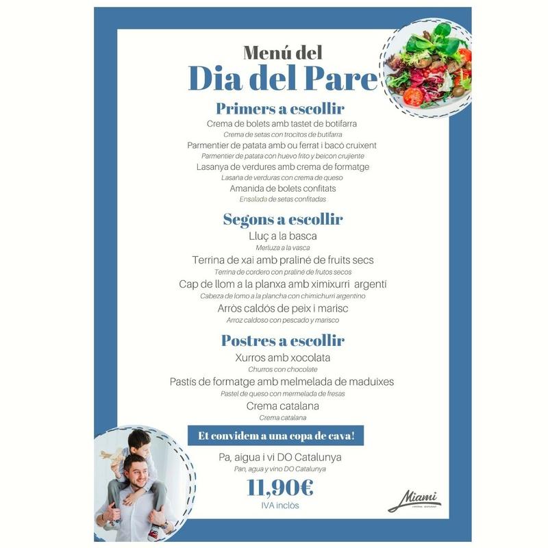 MENÚ DEL DÍA DEL PADRE: Carta y Menús de Restaurant Miami