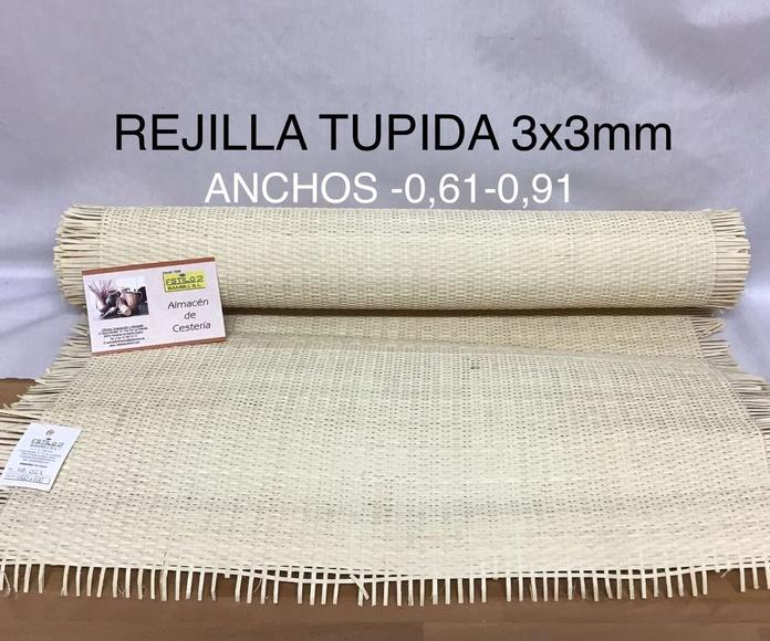 Rejilla tupida 3x3 mm. Estilo 2 Bambú S.L. Madrid