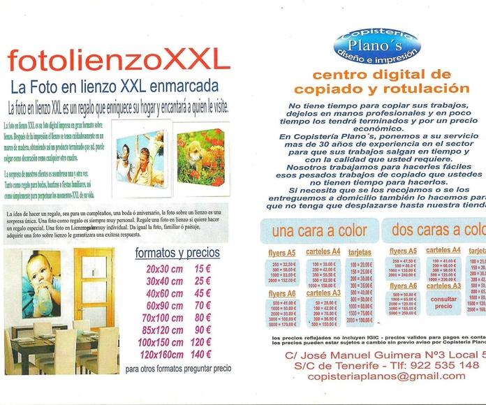 Fotolienzo XXL y centro digital de copiado y rotulación