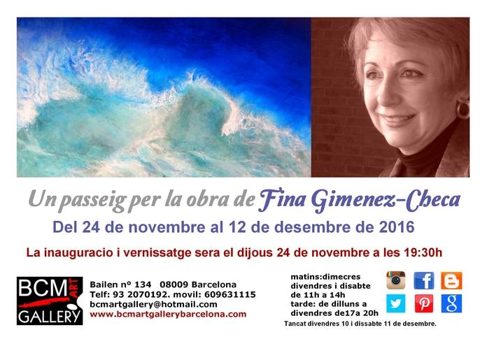 Un paseo por la obra de Fina Gimenez-Checa: Exposiciones y artistas  de BCM Art Gallery