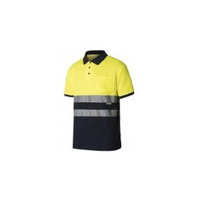 Serie 305513 / Polo algodón bicolor manga corta alta visibilidad: Nuestros productos  de ProlaborMadrid
