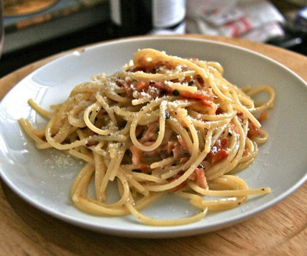 Carbonara, pesto y boloñesa
