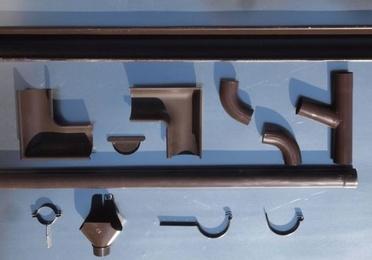Canalón de aluminio lacado