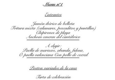 Celebration Menus