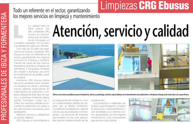 Cleaning services CRG Ebusus