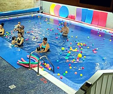 Bienvenidos a la piscina climatizada