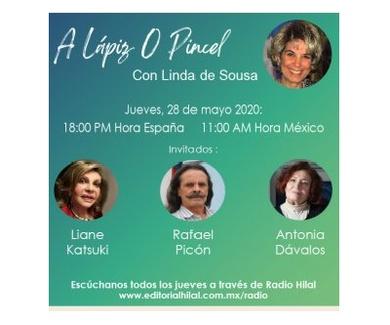 Antonia Dávalos invitada al programa de radio sobre arte «A Lápiz o Pincel»