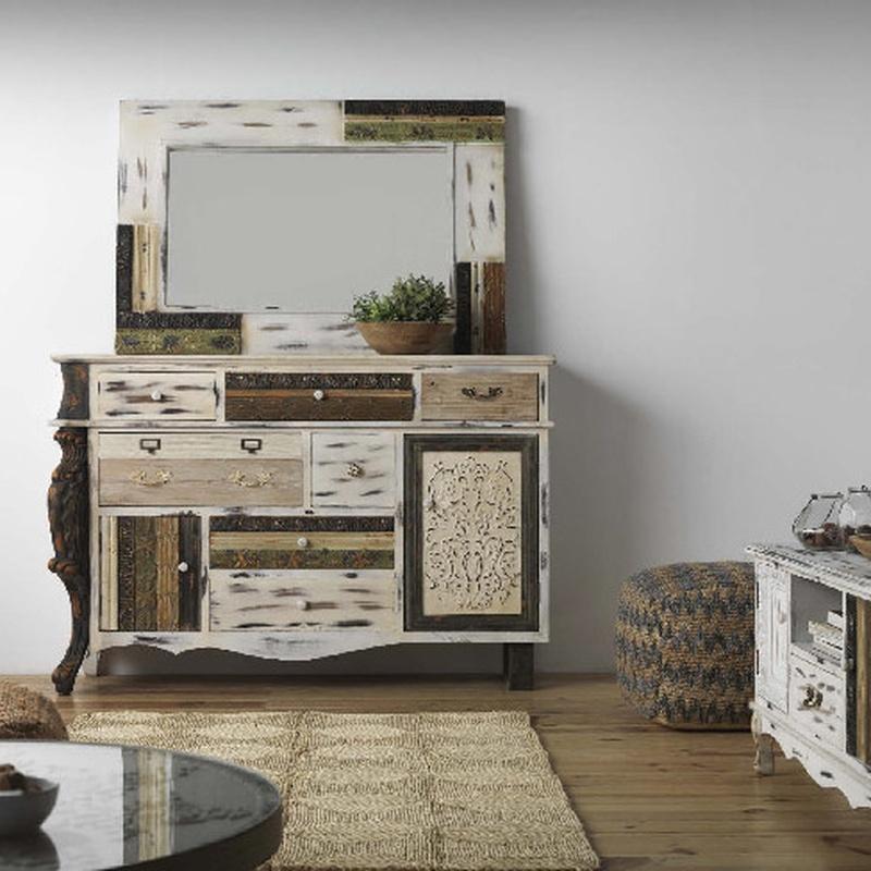 Muebles fabricado en madera de Abeto y MDF de 150 x 45 x 100