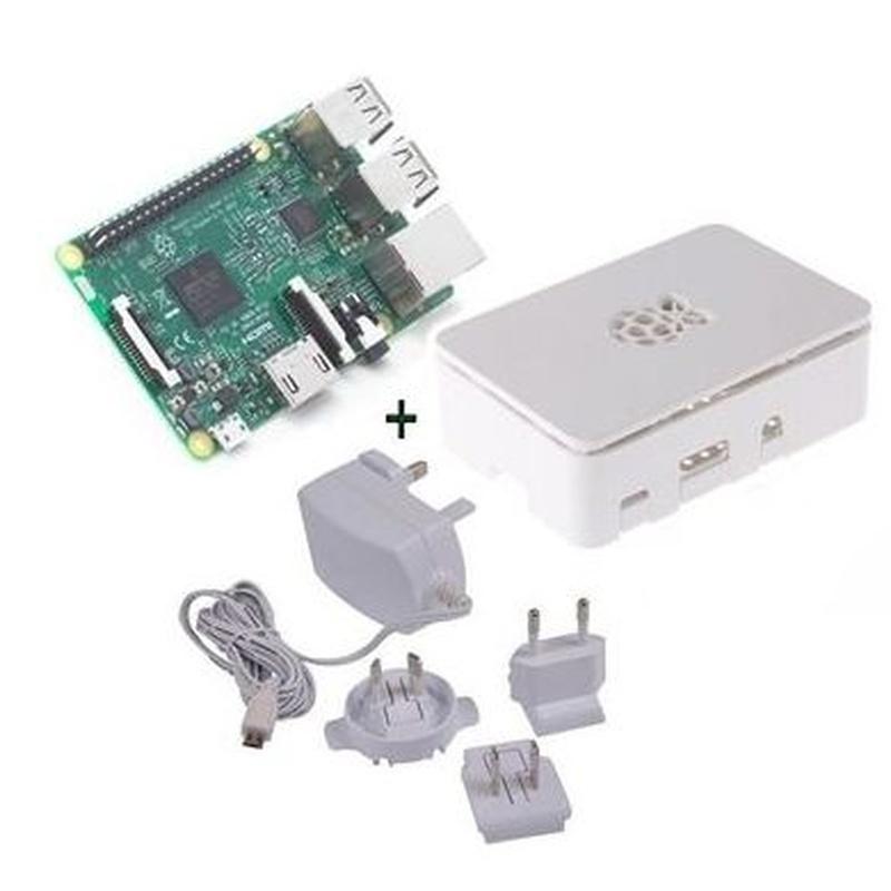 Raspberry kit Pi 3+ caja blanca+ fuente 5.1V blanc : Productos y Servicios de Stylepc
