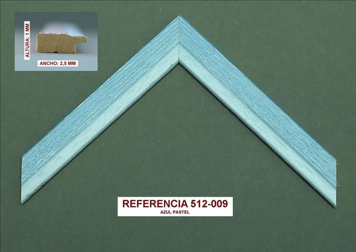 Referencia 512-009 Azul pastel: Muestrario de Moldusevilla