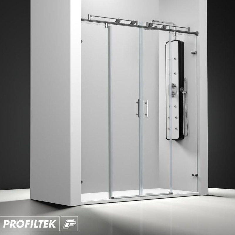 Mampara de baño Profiltek corredera serie Steel modelo ST-225 Classic