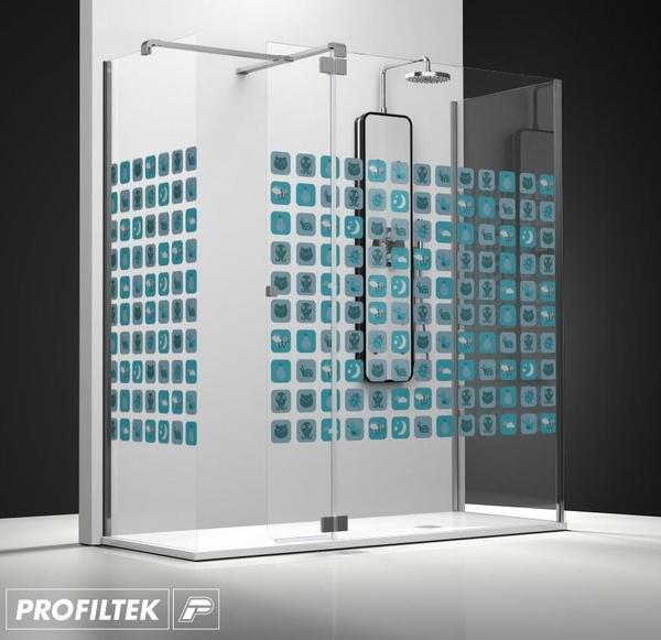 Mampara de baño Profiltek walk-in serie Belus modelo B-241 decoración Kids