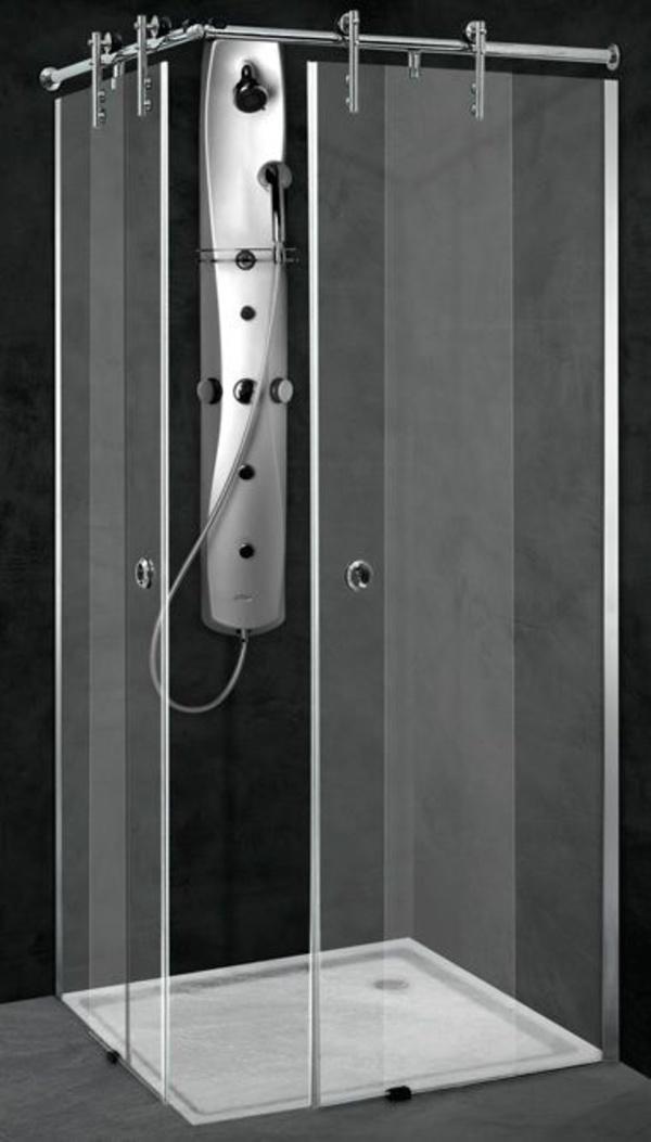 Mampara angular ducha Inox-Altair (2 hojas fijas + 2 correderas)