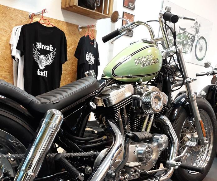 Harley davidson, shovelhead , bobber, chopper, custom ,motos custom Valencia, motos oldschool sportster