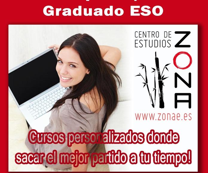 Cursos preparación pruebas libres de Grado Superior/Medio, ESO y Universidad.