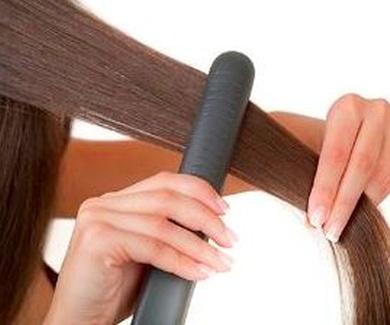 Las planchas y el cabello.