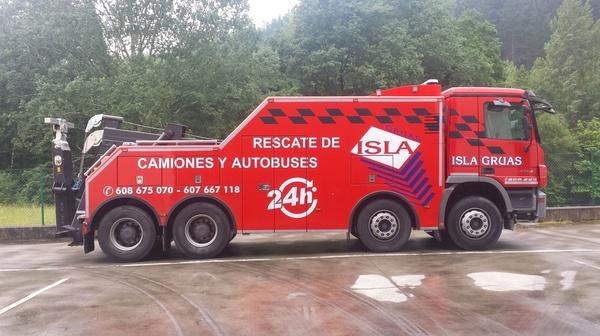 rescate de camiones Bilbao
