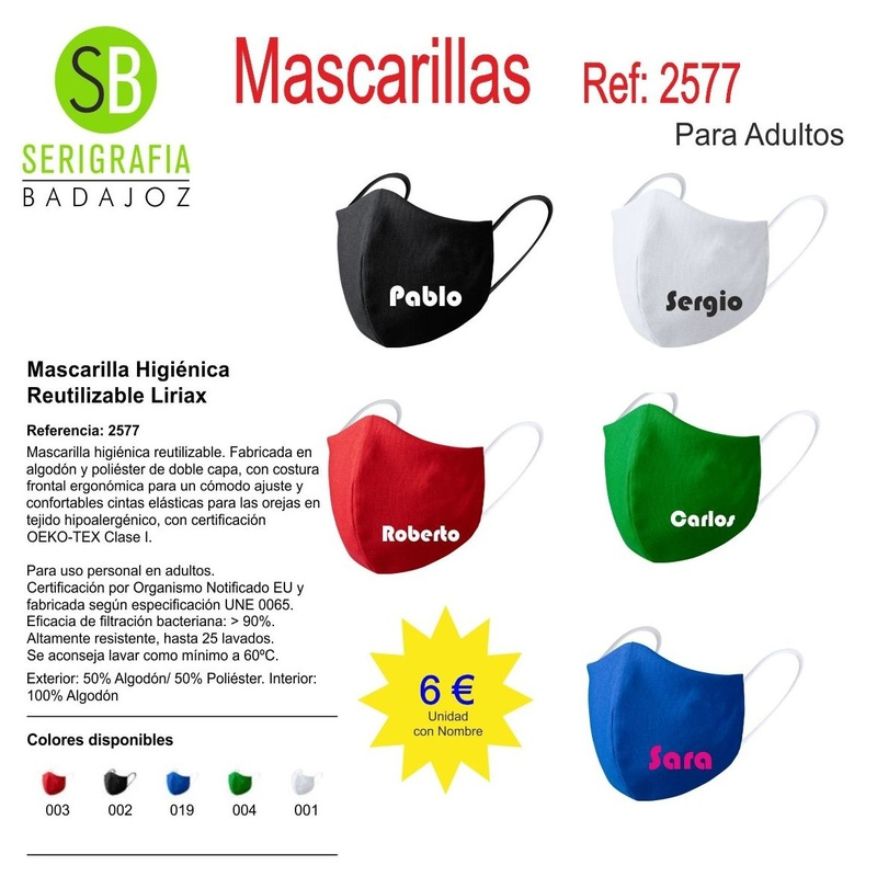 MASCARILLA REF: 2577